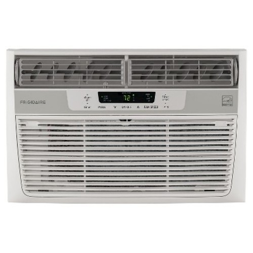Frigidaire 8,000 BTU 115V Window-Mounted Mini-Compact Air Conditioner with Temperature-Sensing Remote Control in White