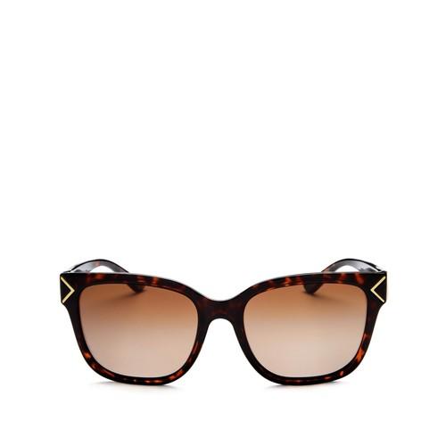 TORY BURCH Polarized Square Sunglasses, 54Mm