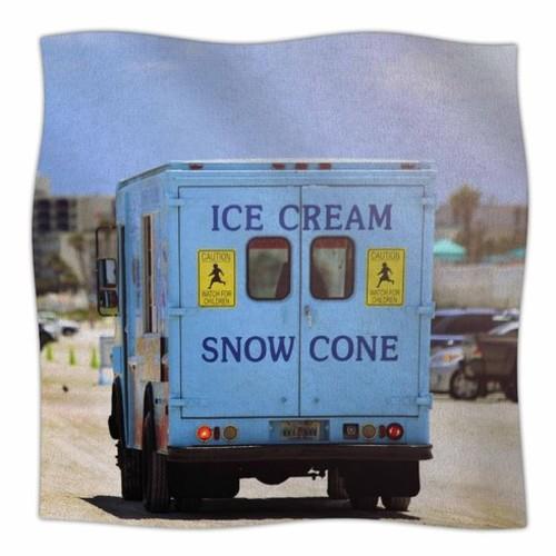 'Ice Cream Truck' By Angie Turner Fleece Blanket