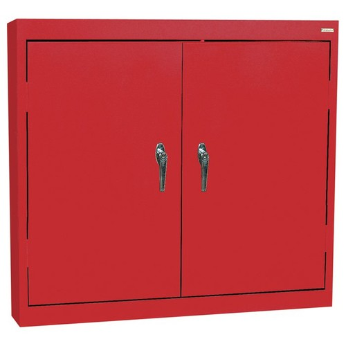 Sandusky Lee Welded Steel Wall Cabinet  Solid Doors, 36in.W x 12in.D x 30in.H, Red, Model# WA22361230-01