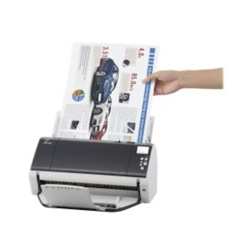 Fujitsu fi-7480 - Document scanner - Duplex - 12 in x 17 in - 600 dpi x 600 dpi - up to 80 ppm (mono) / up to 80 ppm (color) - ADF ( 100 sheets ) - up to 12000 scans per day - USB 3.0