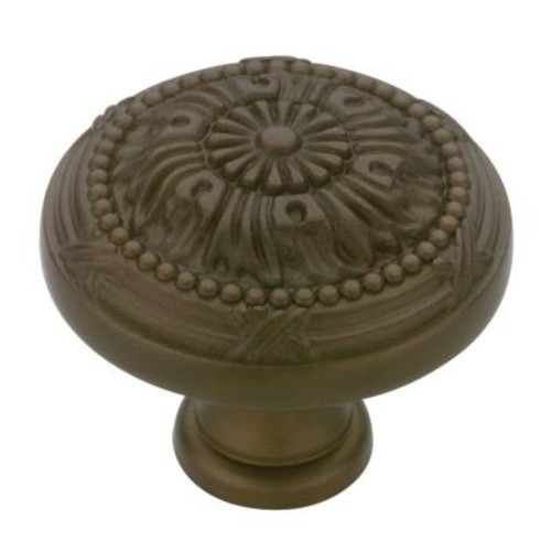 Liberty Provincial Antiques 1-1/8 in. Rubbed Bronze Round Vintage Cabinet Knob