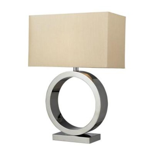 Titan Lighting Aurora 27 in. Chrome Contemporary Circle Table Lamp