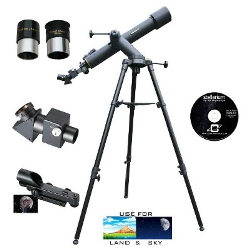 Cassini C-72080TR Tracker Series Astro Telescope - Black (720mm x 80mm)