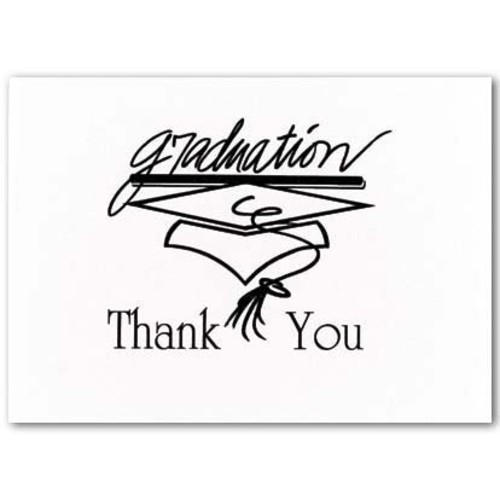 Hortense B. Hewitt 20 Count Black Graduation Thank You Note Cards