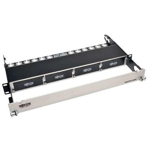 TRIPP LITE High Density Copper Fiber Enclosure Panel 4-Cassette Capacity 1U (N484-01U)