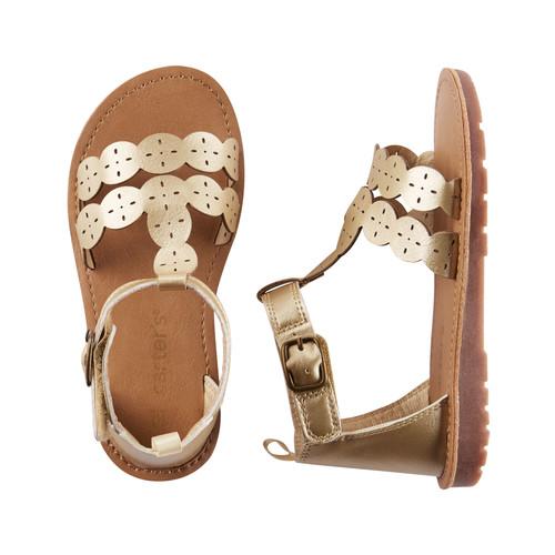 Carter's Metallic T-Strap Sandals