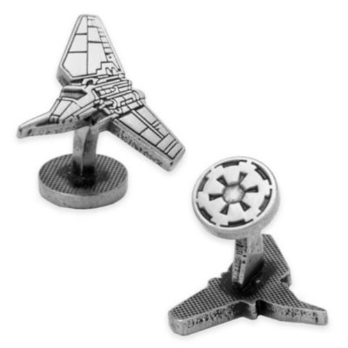 Star Wars Antique-Plated Imperial Shuttle Etched Cufflinks