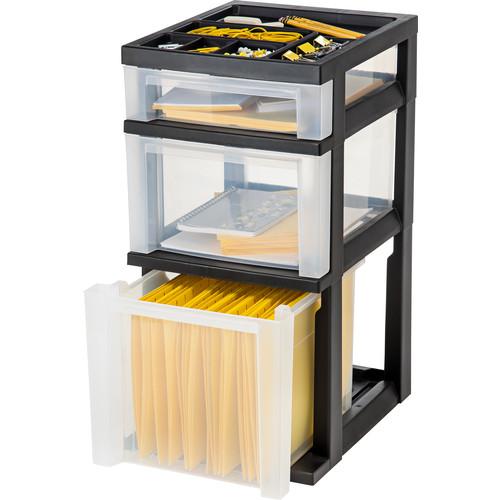 Iris 3-Drawer Storage Cart - Black