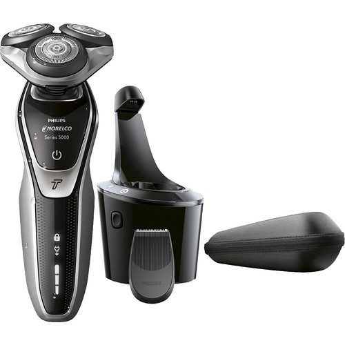 Philips Norelco - 5700 Clean & Charge Wet/Dry Electric Shaver - Super Nova Silver