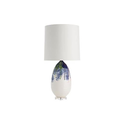 Freida Table Lamp, Ivory/Multi