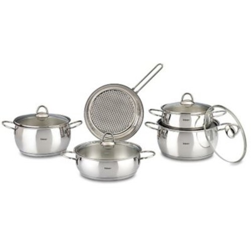 HISR Mercury 9 Piece Stainless Steel Cookware Set