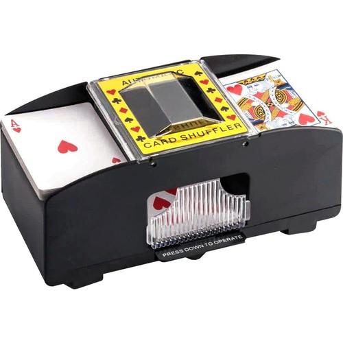 Samsonico USA - Automatic Card Shuffler - Black and Yellow