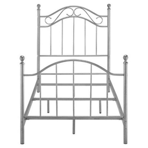 Metal Bed (Twin) - Pewter - Dorel Living