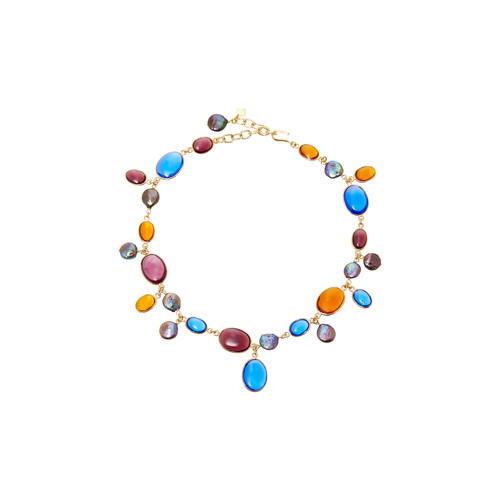 Short Pebble and Pearl Necklace