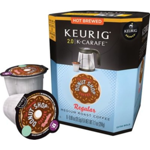The Original Donut Shop Coffee, Regular Keurig K-Carafe Pods, 8 Count