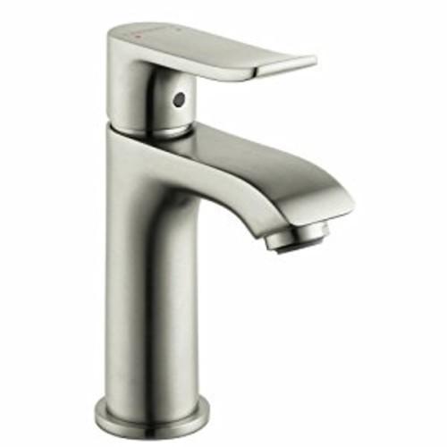 Hansgrohe 31088821 Metris E Single Hole Faucet, Brushed Nickel [Chrome]
