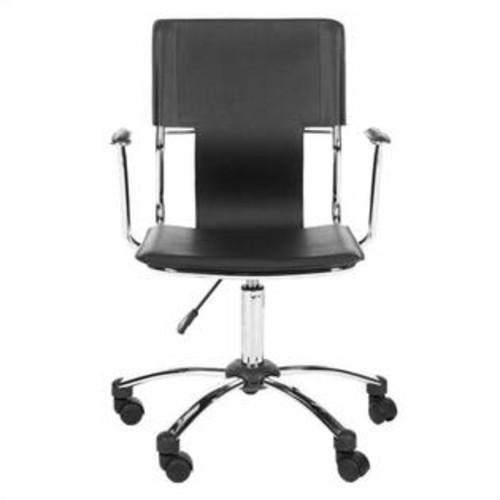 Safavieh Kyler Desk Office Chair in Black