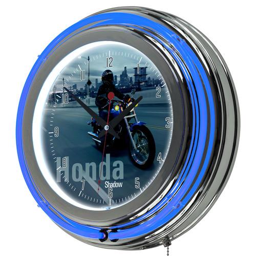 Honda Shadow Chrome Double Ring Neon Clock