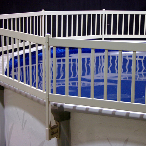 Taupe Above Ground Pool Fence Kit