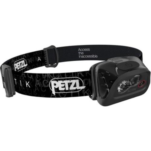Petzl - ACTIK Headlamp, 300 Lumens, Active Lighting [BLACK-E99AAA, One Size]