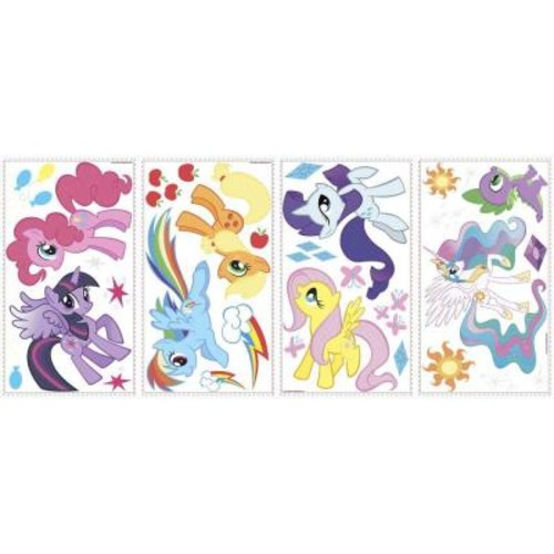 RoomMates 11.5 in. Multi Color My Little Pony Peel and Stick Wall Decals