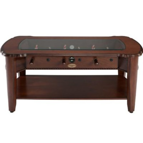 Berner Billiards 2-in-1 Foosball Coffee Table; Antique Walnut