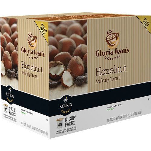 Keurig - Gloria Jean's Hazelnut K-Cup Pods (48-Pack) - Multi