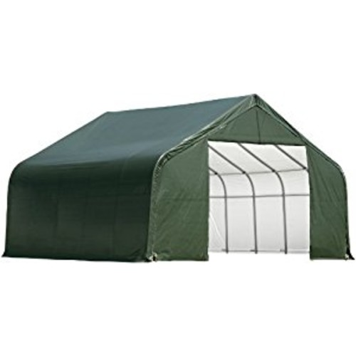 ShelterLogic 86067 Green 30'x24'x20' Peak Style Shelter [Green, 30'x24'x20']