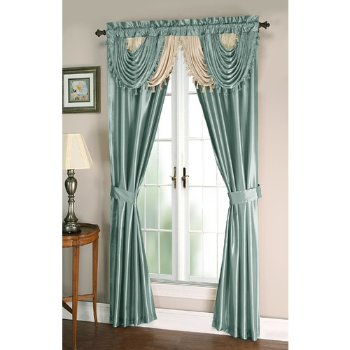 Essential Home Amore 54X84 Window set with Attached Valance and Tie Backs
