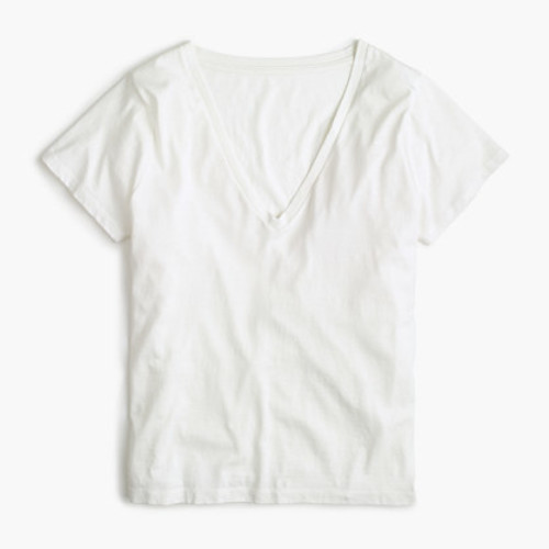 V-neck T-shirt in Supima cotton