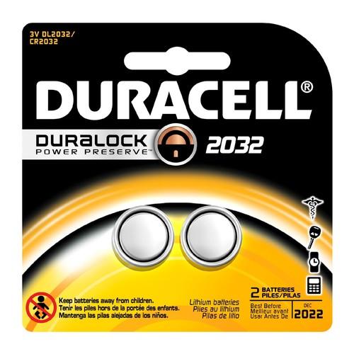 Duracell DL2032B2 Medical Batteries, 3V Lithium, Type 2032