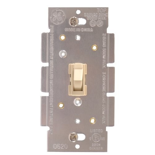 GE Dimmer, Single Pole, Toggle On/Off, Ivory 52131 [Ivory]