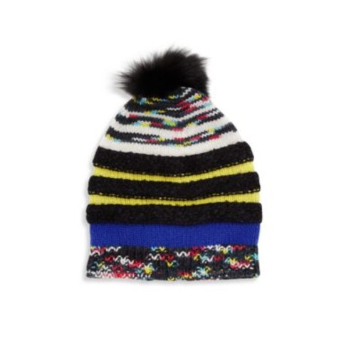 MISSONI Fox Fur Pom-Pom & Wool Beanie