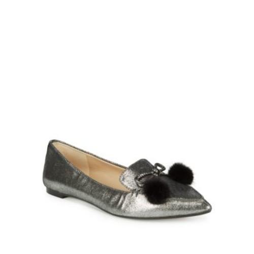 Karl Lagerfeld - Metallic Leather Loafers