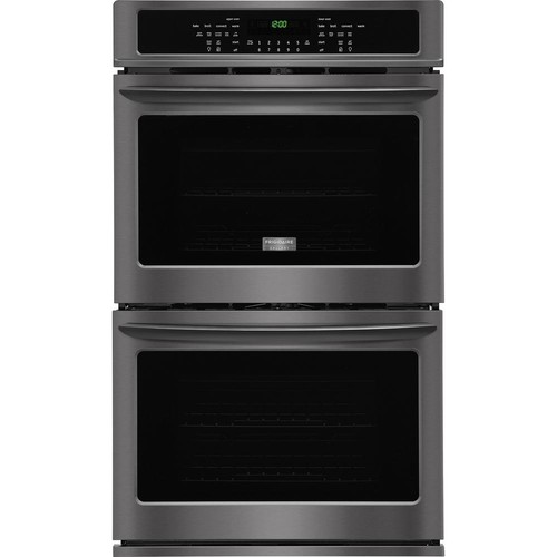 Frigidaire Gallery 30 in. Double Electric Wall Oven Self-Cleaning with Convection in Black Stainless Steel