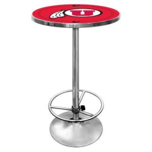 Trademark University of Utah Chrome Pub/Bar Table
