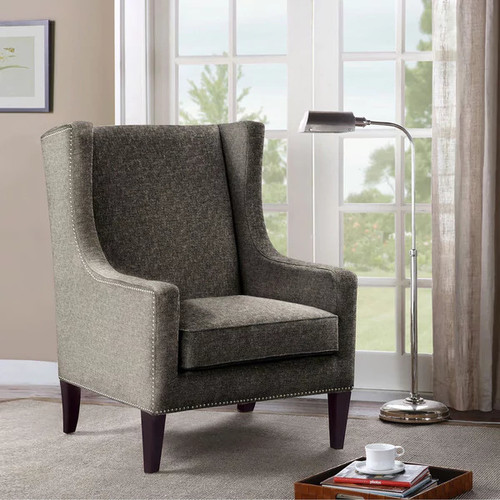 Madison Park Weston Brown Multi Wing Chair