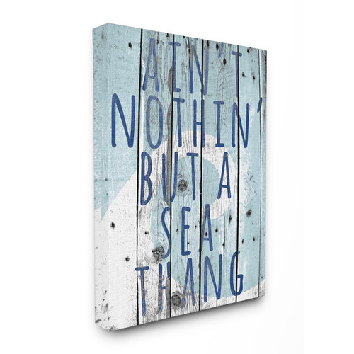 Ain't Nothin' but a Sea Thang' Wall Plaque Art