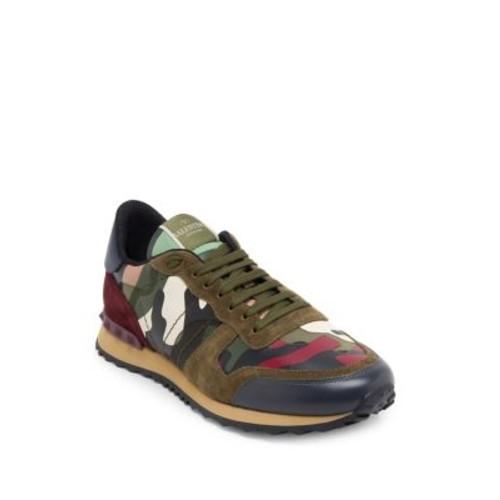 Camouflage Rockstud Sneakers