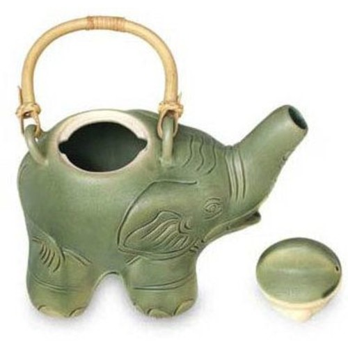 Novica Elephant Teapot Figurine