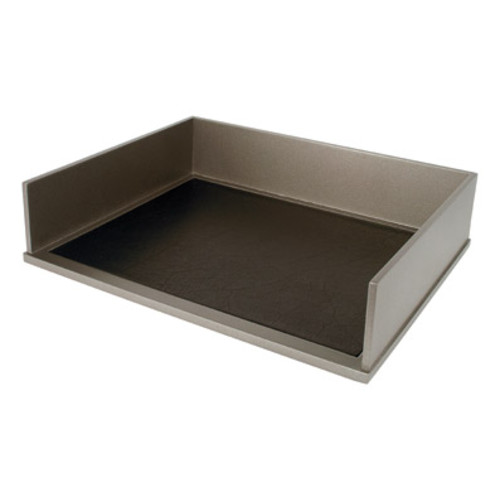 Victor Wood Classic Silver Collection Stacking Letter Tray, S1154