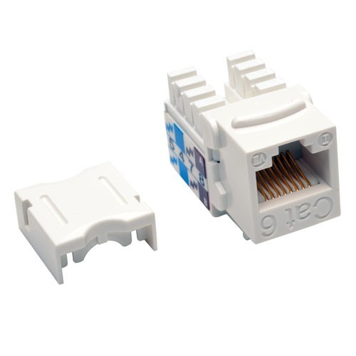 Tripp Lite Cat6/Cat5e 110 Style Punch Down Keystone Jack - White, 25-Pack
