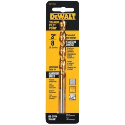 DEWALT 3/8 in. Titanium Pilot Point Drill Bit