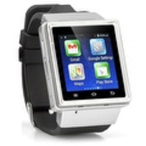Indigi (Factory Unlocked) 3G Bluetooth Sync Android 4.4 KitKat SmartWatch and Phone + WiFi + Camera + Google Maps - Silver