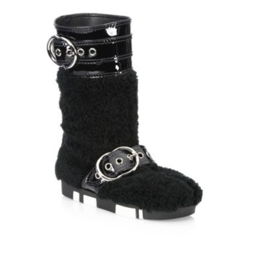 Eco Fur Leather Booties