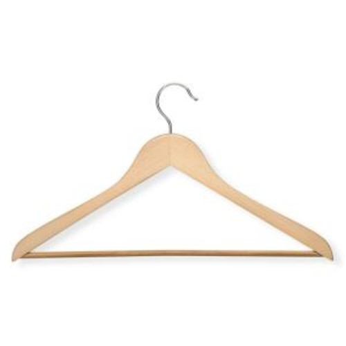 Honey-Can-Do Maple Wood Suit Hanger (10-Pack)
