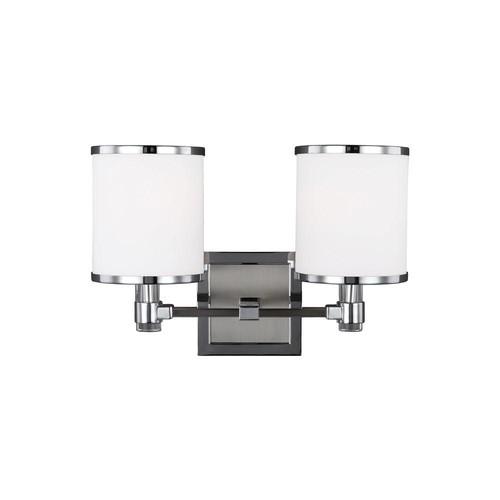 Feiss Prospect Park 2-Light Satin Nickel/Chrome Wall Bath Light