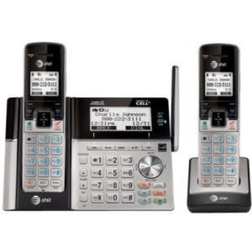 AT&T TL96273 Multi Line Conference Cordless 2 Handset Connect to Cell Answering System, Office Phones