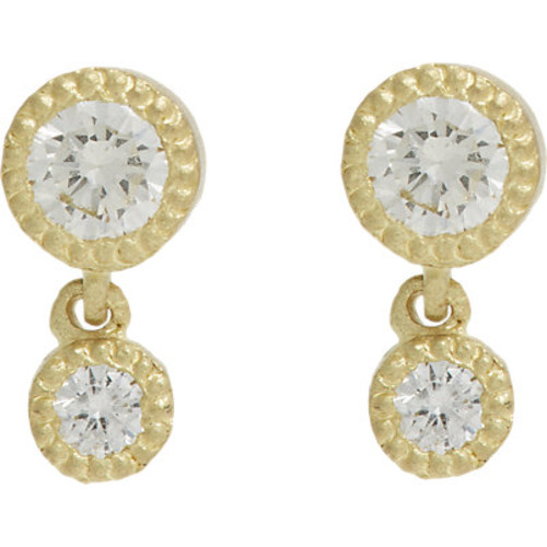 Tate Diamond Double-Drop Earrings